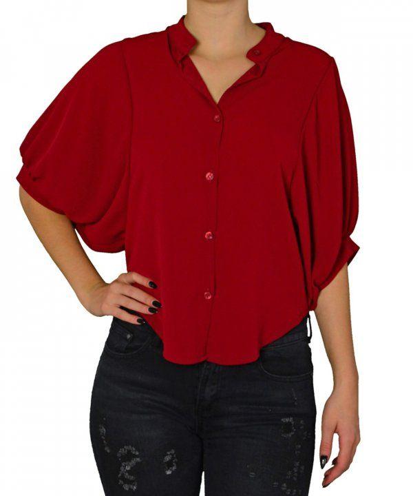 Γυναικείο ασσύμετρο κοντό πουκάμισο Lipsy μπορντό 2170503C #γυναικείαπουκάμισα #ρούχα #στυλάτα #fashion #μόδα #γυναίκες #βραδυνά #μεταξωτά