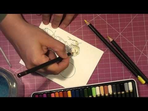 ▶ Coloring with Spectrum Noir Blendable Pencils - YouTube