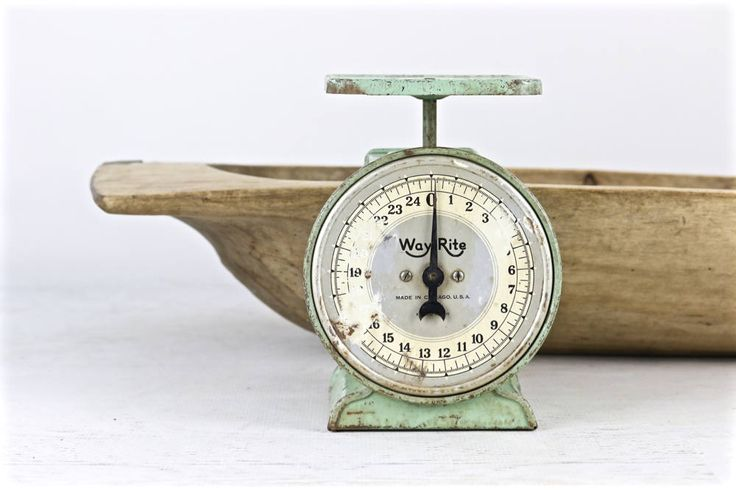 Vintage Scale, Kitchen Scale, Green Scale, Rustic Kitchen Scale, Primitive Scale, Scale, Farmhouse Decor, Old Scale, Rustic Decor, Scale by HuntandFound on Etsy