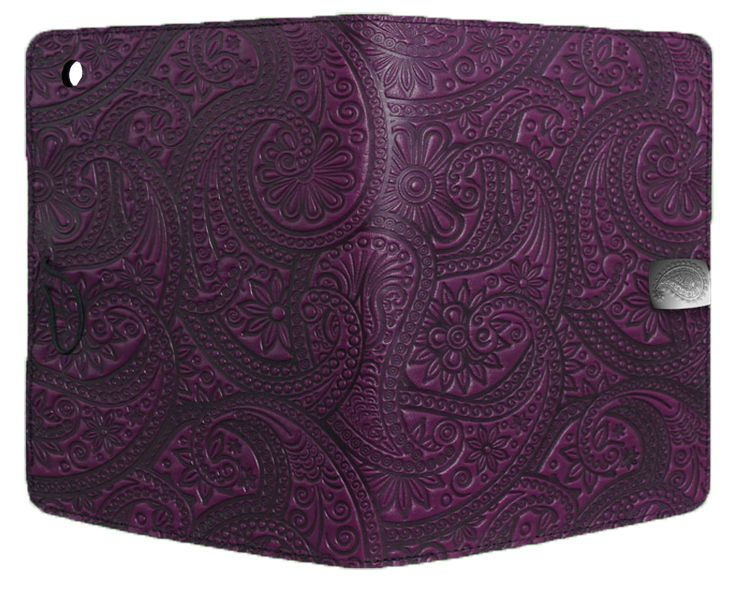 Leather iPad Mini Cover Case | Paisley in Orchid