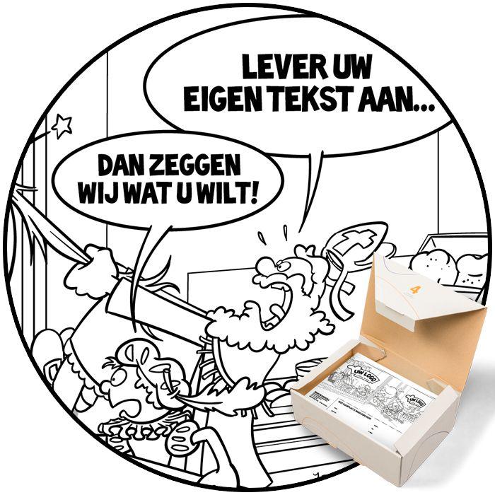 Sinterklaaskleurplaat voor Bakkerijen. Gepersonaliseerd met eigen tekst en logo te bestellen op www.yaroonscartoons.com/kleurplaten.