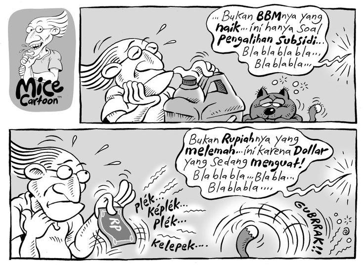 Mice Cartoon, Kompas 20 Desember 2014: Nasib BBM dan Rupiah