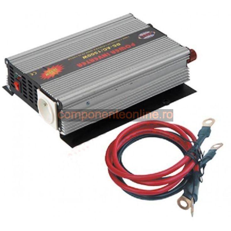 Invertor de tensiune, 12V - 220V AC, 1500W - 201065