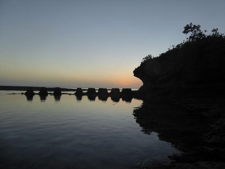 Sunset from Avatele Beach on Niue Island