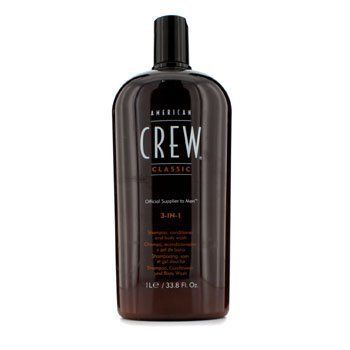 American Crew Men Classic 3-In-1 Shampoo, Conditioner & Body Wash 1000Ml/33.8Oz  //Price: $ & FREE Shipping //     #hair #curles #style #haircare #shampoo #makeup #elixir