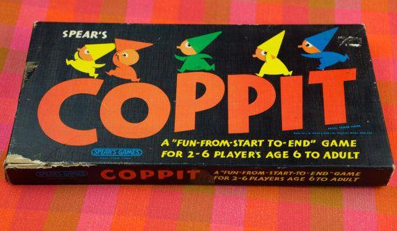 Vintage 1960s Coppit Board Game Spear's games by ElsieandMartha