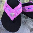 Size 9 ~ Pink Denim Flip Flop Sandal ~ The U-Nique
