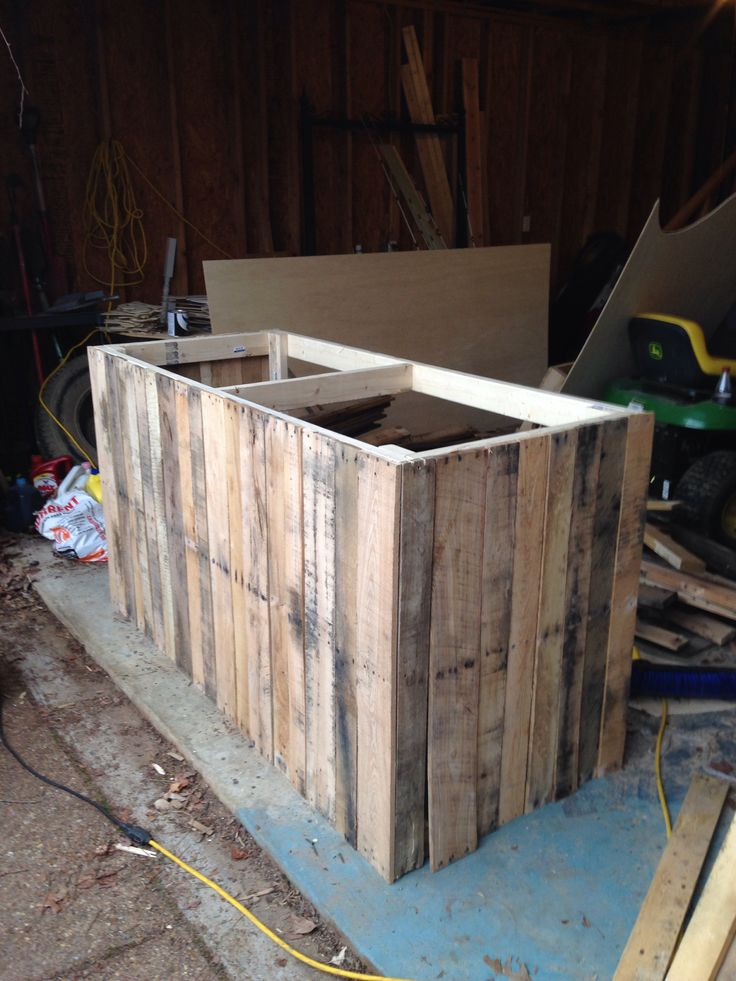 Pallet board counter for the store part 2!