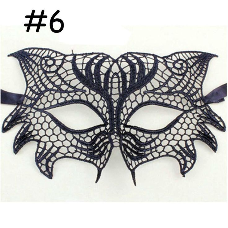 NEW Sexy Lace Mask For Halloween Masquerade Ball Party Fancy Dress Costume #6 black mask cheap masquerade masks A609 APJ