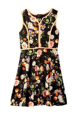 Floral Print Sleeveless Dress (Big Girls)