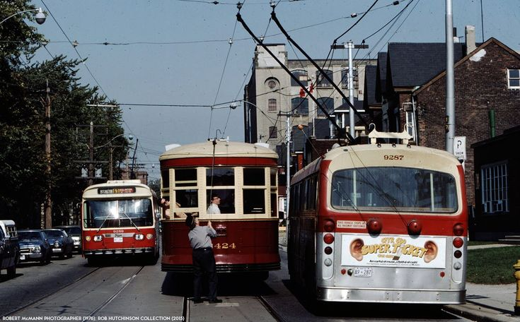 TTC Toronto Flyer trolley coaches and Peter Witt Streetcar