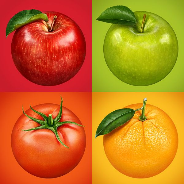 Fruits by Kadasarva, via Behance