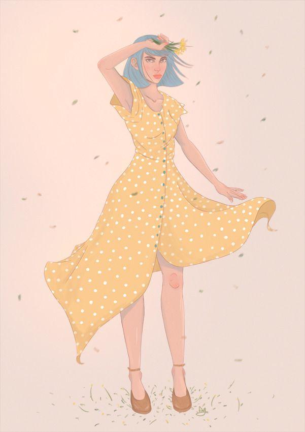 Yellow dress ♡ character design