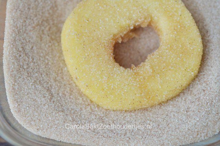 Appel beignets met beslag
