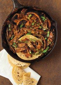 bistec en chile pasilla