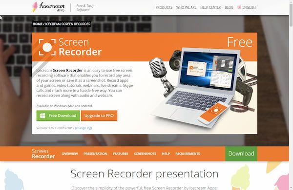 اسرع برنامج تصوير شاشة الكمبيوتر فيديو للأجهزة الضعيفة Screen Recorder Screen Free Screen