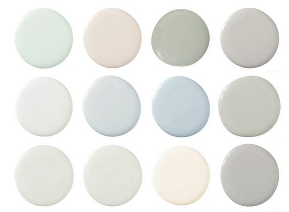 Swedish paint colors as seen at House Beautiful
