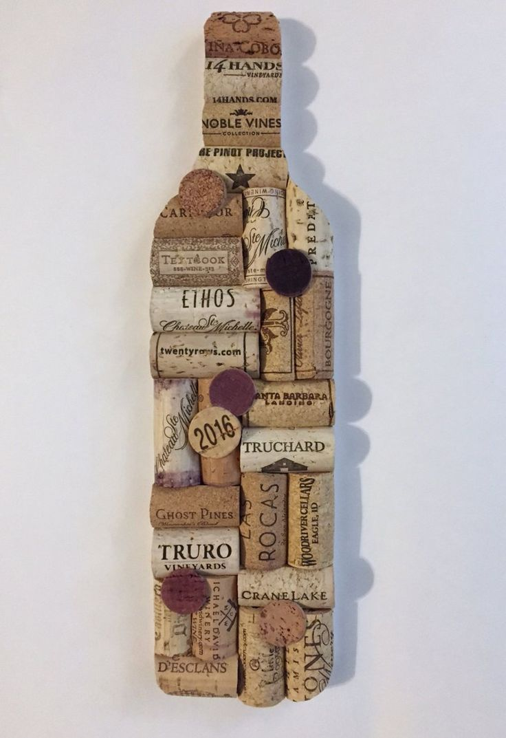 Wine Bottle Upcycled Cork Wall Art - Upcycled Home Decor - Wine Cork Bar Decor - Wine Gifts - Wine Cork Art - Wine Decor - Housewarming Gift  dıy home decor - Diy Home and Decorations #Wine #Art #DiyHomeandDecorations