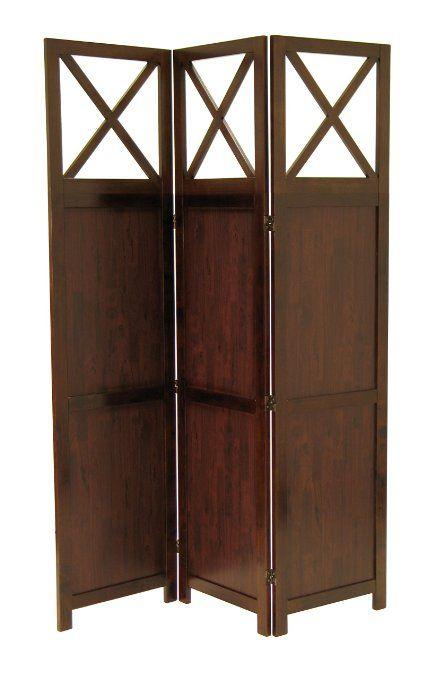 Amazon.com - Winsome Bergen 3-Panel Room Screen - Wood Privacy Screen