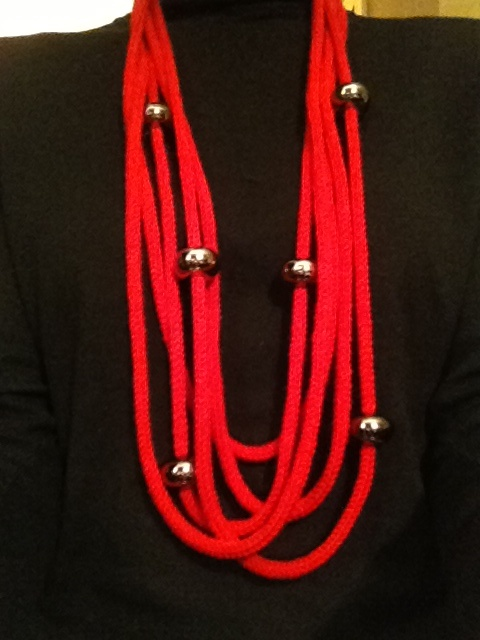 lmc - collana natalizia in lana