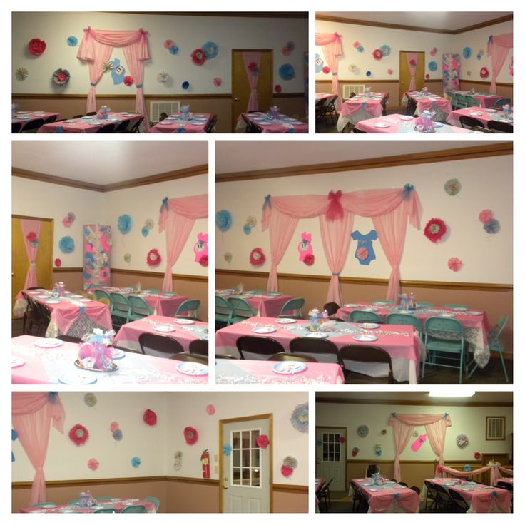 Pin by briana johnson on decorating ideas pinterest for Baby shower hall decoration