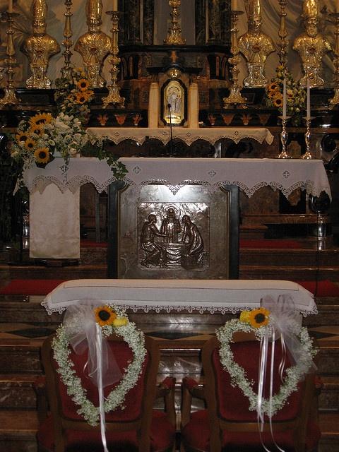 Addobbo Con Girasoli Matrimonio : Addobbo chiesa con cuori e girasoli addobbi