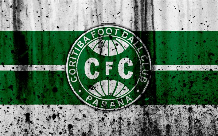 Download wallpapers FC Coritiba, 4k, grunge, Brazilian Seria A, logo, Brazil, soccer, football club, Coritiba, stone texture, art, Coritiba FC