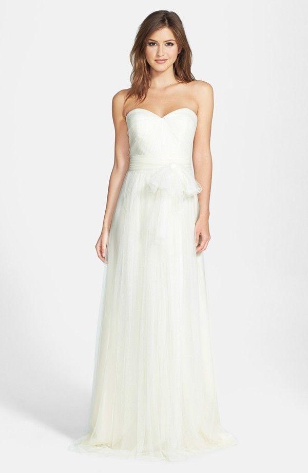 83b7b975bd4 NWT Jenny Yoo Annabelle Convertible Tulle Column Dress Cream Ivory Size 6   355  JennyYoo