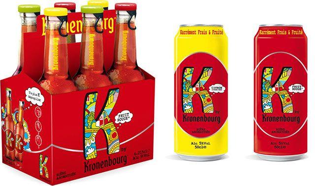 Après Skoll, Kronembourg continue d'innover sur les bières tendances. Disponibles depuis février. Le pack de 6 bouteilles K 27,5 cl est recommandé à 4,95 € et la canette K 50 cl est à 1,35 €