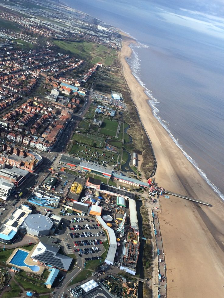 Aerial Shot Of Skegness Coastline By Helicopter Photo Taken 442015  Skegn