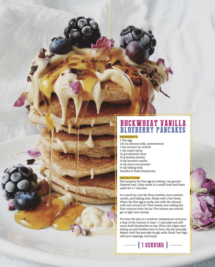 Vegan Pancakes   Buckwheat Vanilla Blueberry Pancakes   THRIVE Vegan Magazine