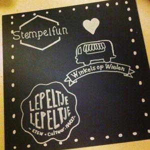 Speciaal krijtbord papier 30x30cm 10 vellen (gelamineerd, herbruikbaar)