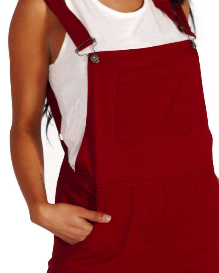 Yummy red overalls (ladies dungarees) from Dungarees Online. Available in UK sizes 8, 10 & 12. #dungarees #overalls #red