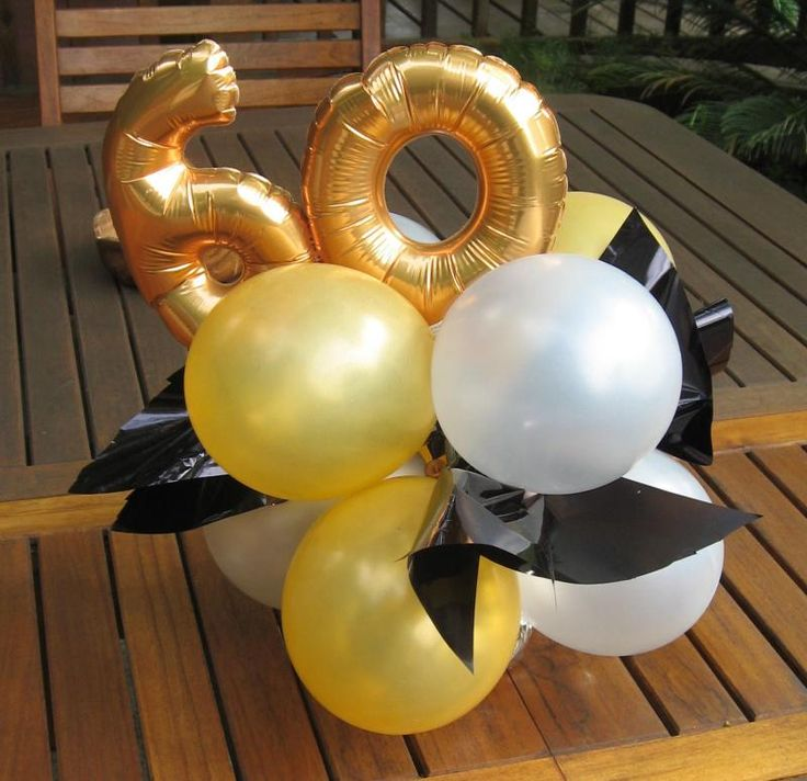 60th Birthday Table Decorations Ideas dessert table for black and gold birthday party theme Centerpieces 60th Birthday Partybirthday Tablesurprise Birthdaybirthday Ideasballoon