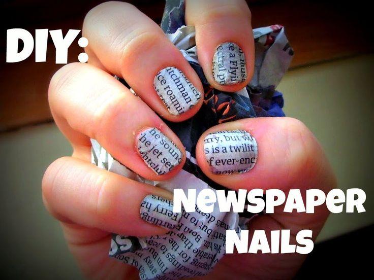 Come fare la nail art con le scritte di giornale   bigodino.it