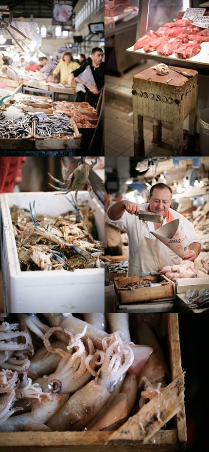 this is really one of my favourite places in the world, Athens fish market. How much I miss that city...