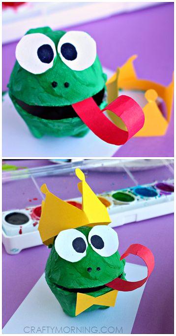 Egg Carton Frog Prince Craft for Kids | CraftyMorning.com