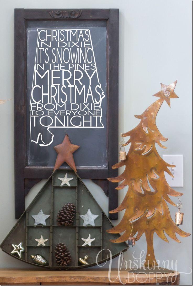 Christmas in Dixie Chalkboard