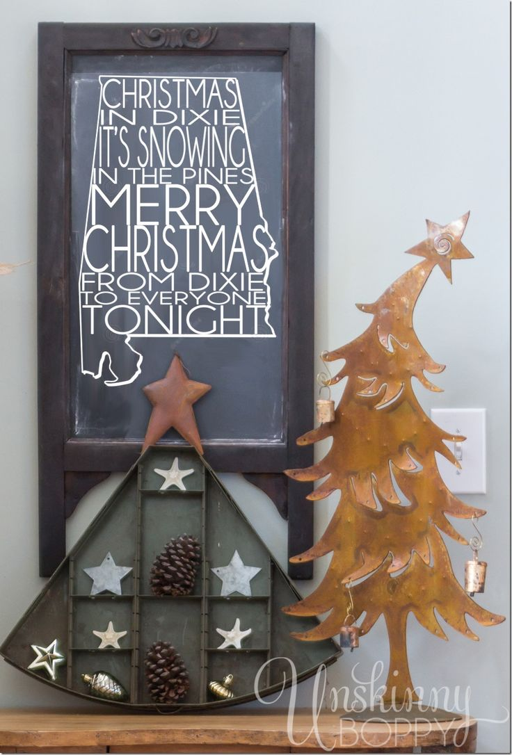 Uncategorized christmas decorations amp holiday decorations - Christmas In Dixie Chalkboard With Rustic Holiday Decorating Ideas