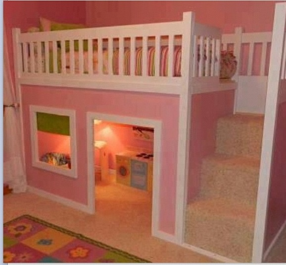 Such a cute idea for a little girl's room! #Adorable