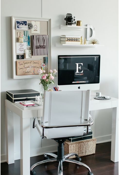 As much as I like to dream I have space for a home office a Chicago condo doesnt have space for that nonsense. this is much more realistic