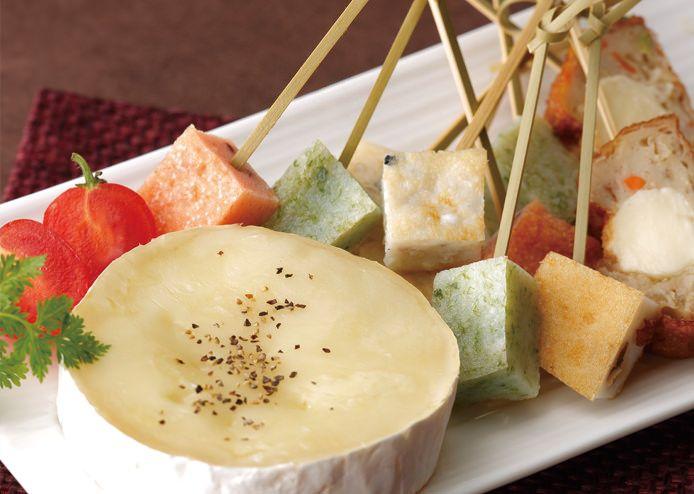 天ぷらの簡単チーズフォンデュ