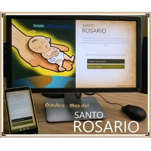 #Octubre Mes del #SantoRosario Recuerda rezar el #SantoRosario a diario y ahora puedes hacerlo desde tu celular o desde tu PC o Tablet. Descárgalo completamente gratis y sin publicidad desde: Windows Phone : http://www.windowsphone.com/s?appid=2d43527b-54af-4b03-9e58-23b8cbf7226b Windows 8.1: http://apps.microsoft.com/windows/app/santo-rosario/c6d8d2ef-26ae-44d6-85cb-f6843e1a6cb4 #SantoRosario de @teaminformatico con Audio Para honrar a la santísima Virgen María