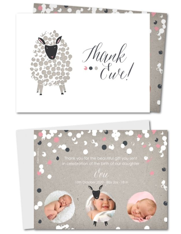 baby gift thank you cards