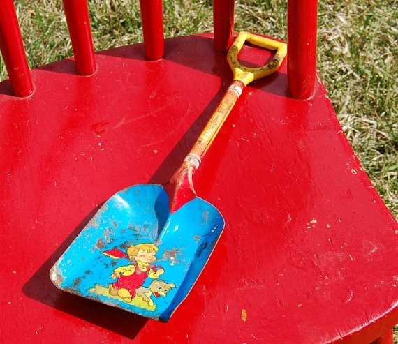 Ohio Art Happy Sandman Vintage Toy Shovel By