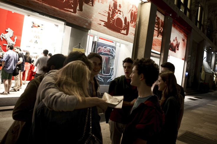 Ferrari Store boutique in Milan during the Salone del Mobile. #ferrari #ferraristore #milan #boutique #salonedelmobile #fuorisalone #cavallinorampante #prancinghorse #cocktail #party #shots #pics #red