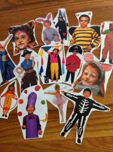 Halloween Costume Picture Language Games.  All you need for these games are pictures of children in costumes http://missdanasgames.wordpress.com/2011/10/19/halloween-costume-picture-language-games/