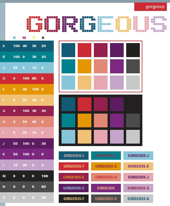 Colors Combinations: 16 Best RGB Printable Color Palette Swatches Images On