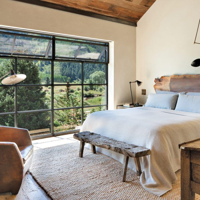 Rustic Meets Industrial In A Colorado Mountain Home Luxe Interiors Design Rustic Bedroom Rustic Master Bedroom Stylish Bedroom Design