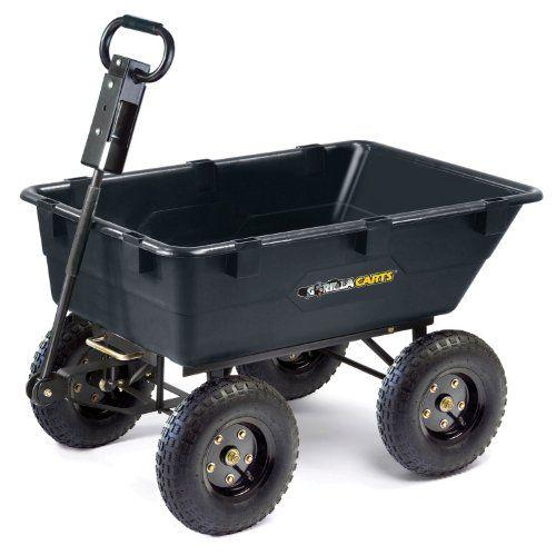 Gorilla Carts Heavy Duty Dump Cart   Best Buy Garden Tools Store